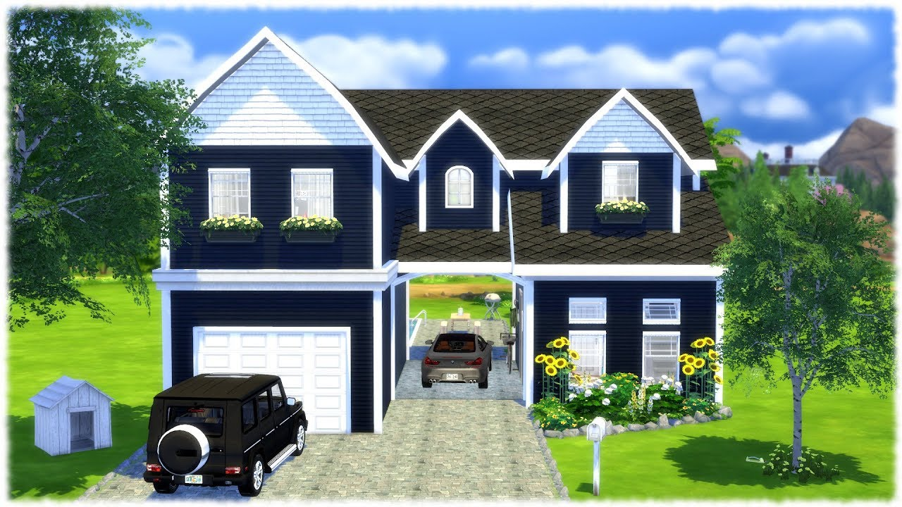 The Sims 4 Speed Build Garage House Youtube