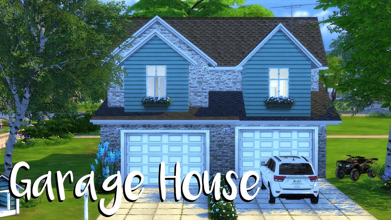 The Sims 4 Garage House Speed Build Cc Links Youtube